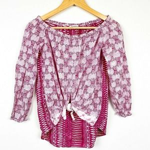 ST. ROCHE Mayberry Off Shoulder Long Sleeve Blouse